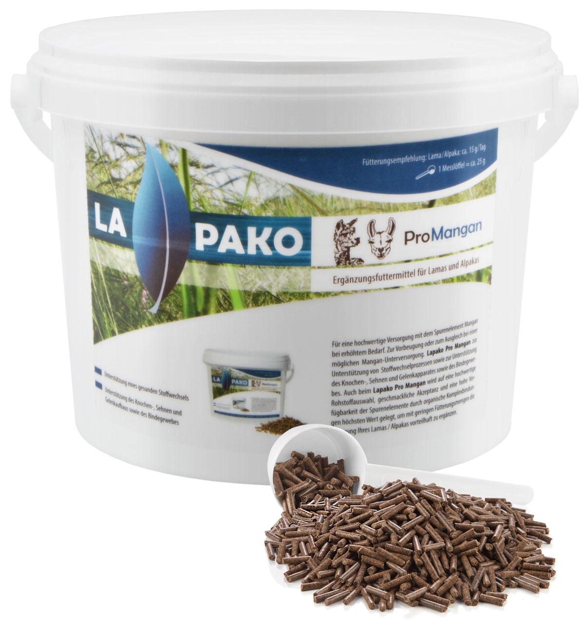 Alpaka Lapako Pro Mangan pelletiert Futter