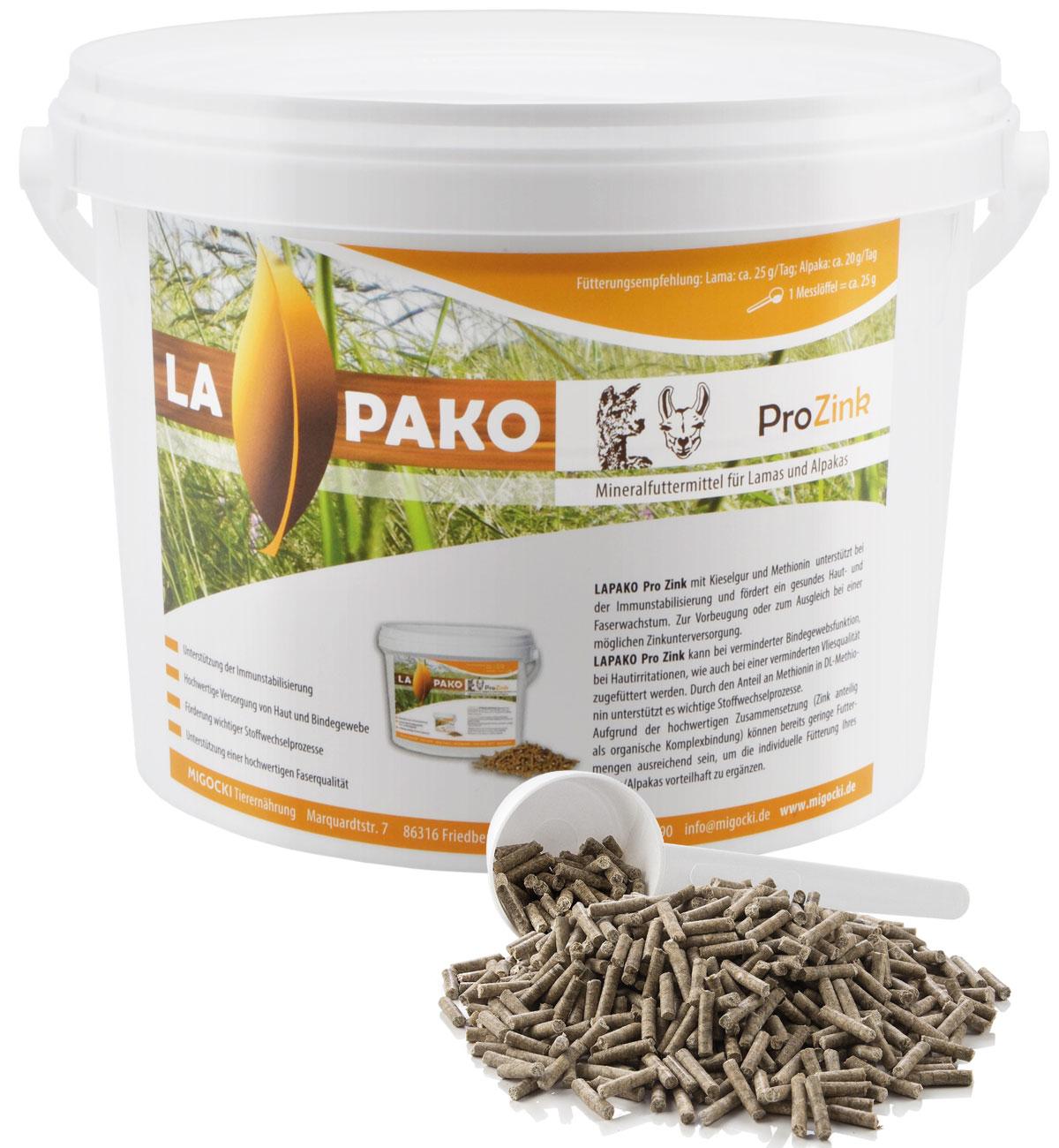 Produkt Lapako Pro Zink Alpakafutter pelletiert