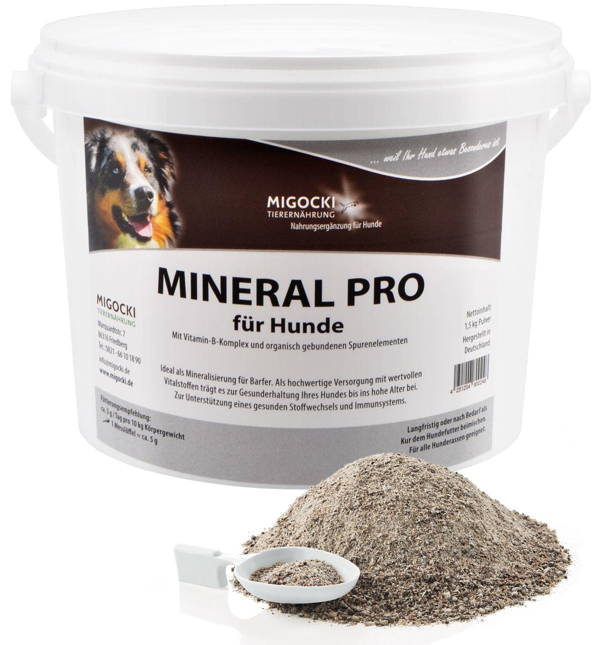 Produkt Mineral Pro für Hunde mit Zink pulver