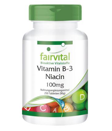 Produkt Vitamin B-3 für Menschen Tabletten