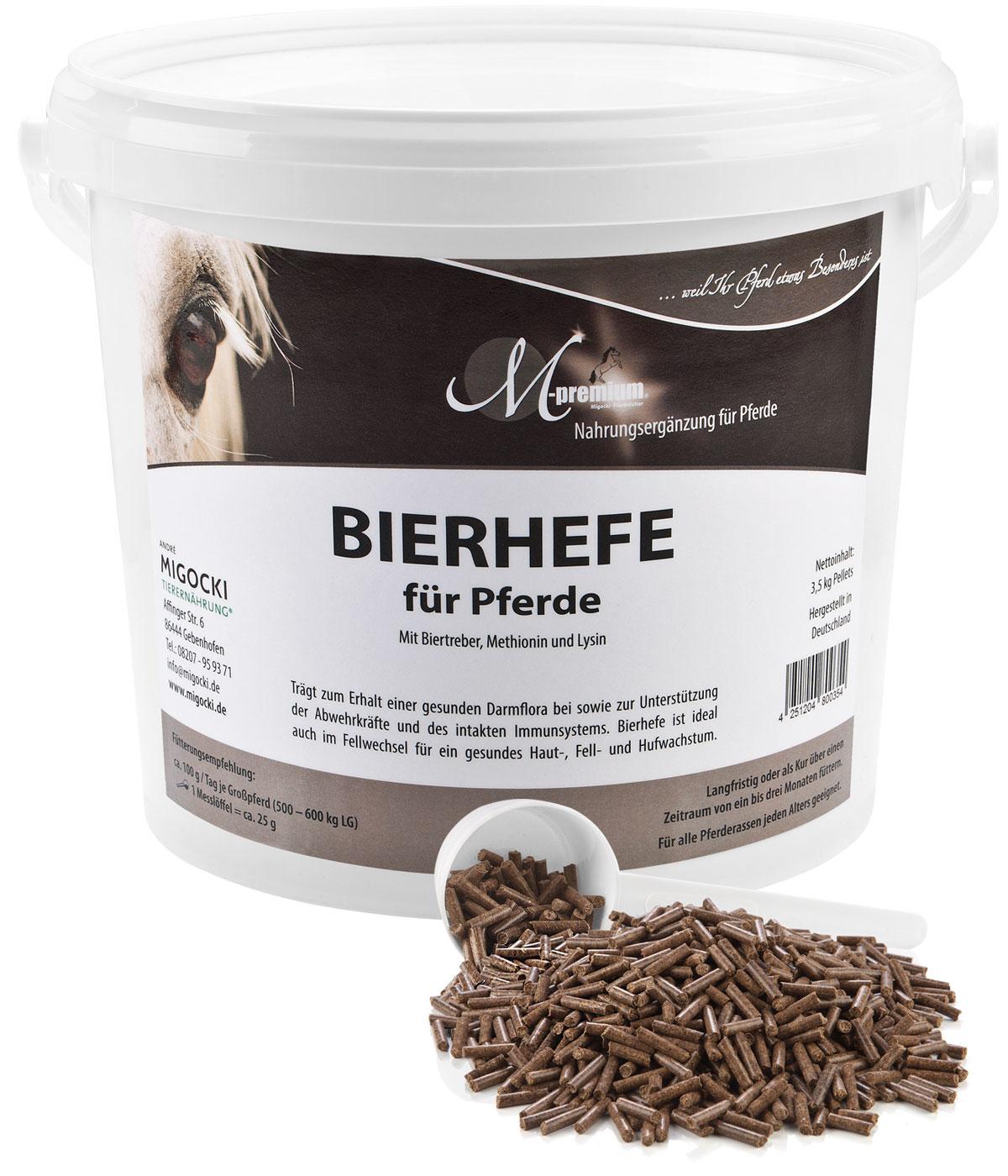 Bierhefe für Pferde pelletiert