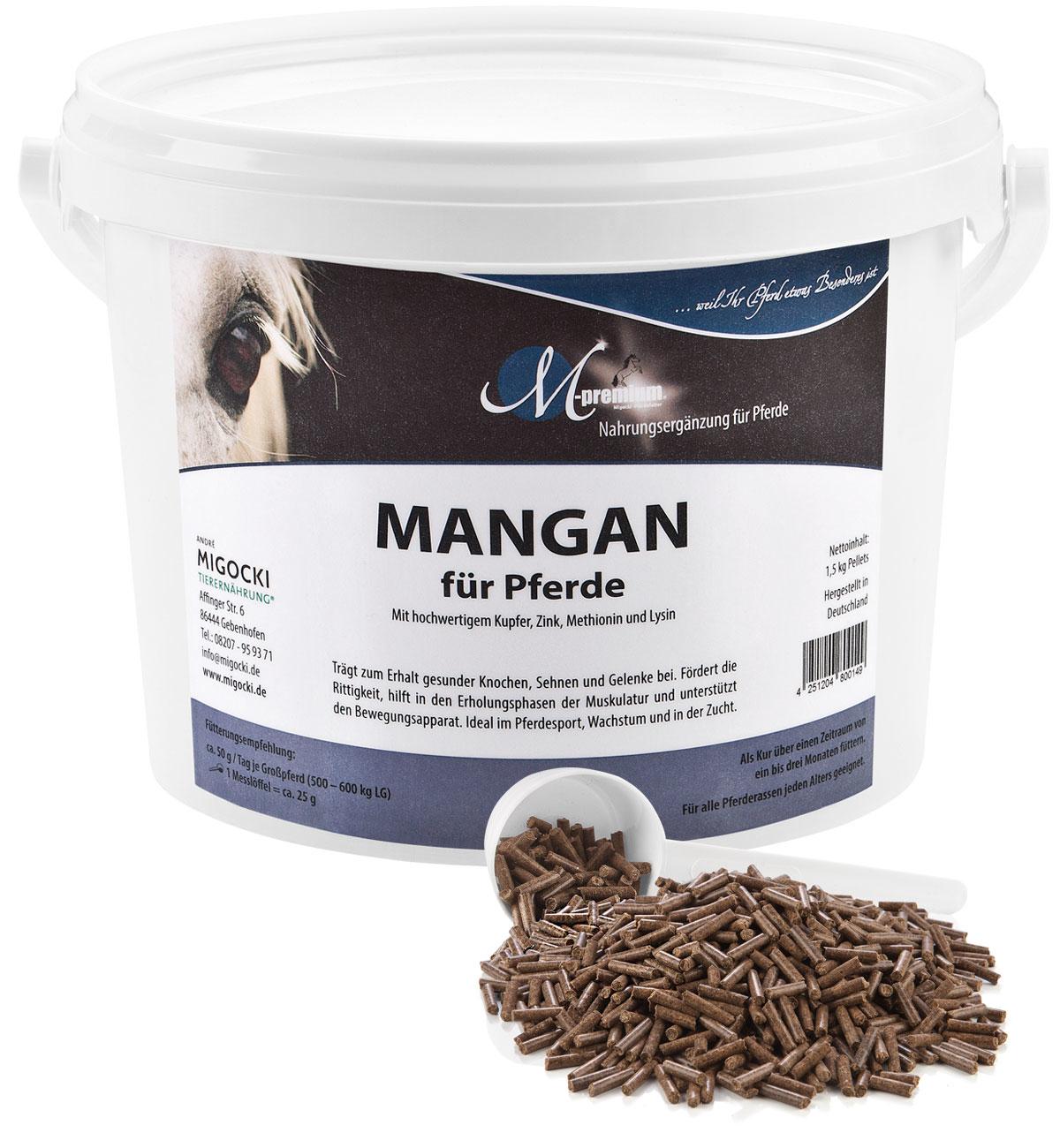 Produkt Mangan Pferdefutter pelletiert