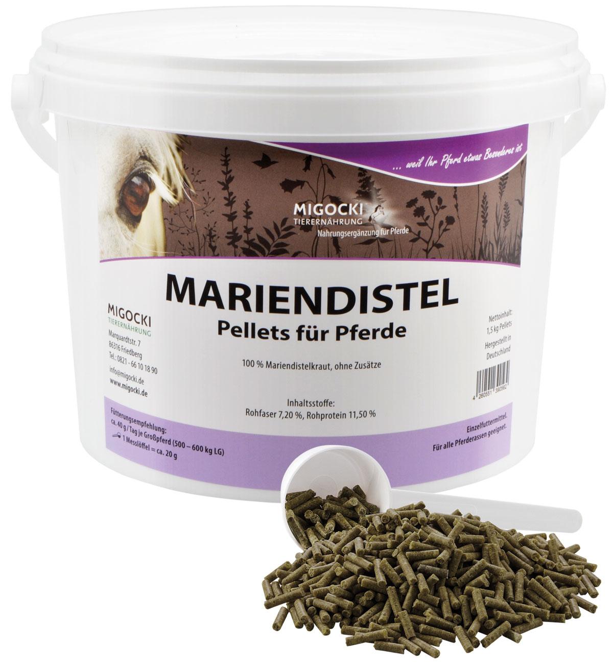 Produkt Mariendistel Pferde Kräuter pelletiert