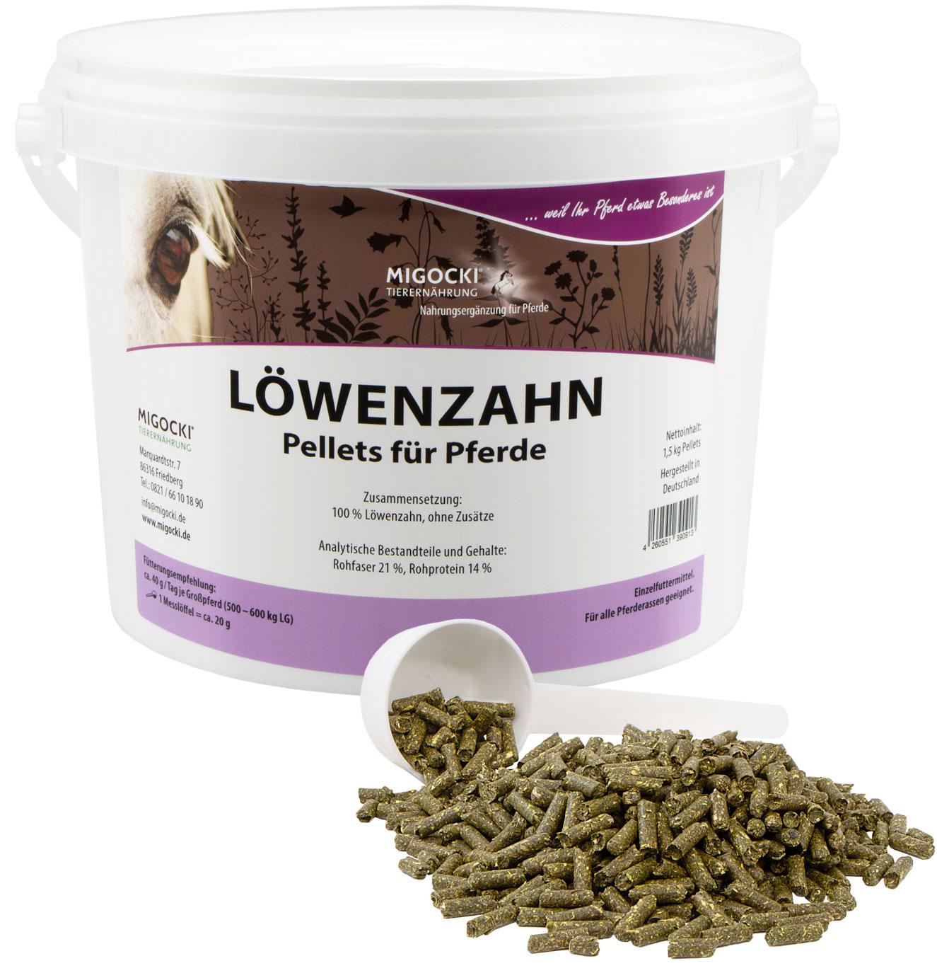 Produkt Löwenzahn Pferde Kräuter pelletiert