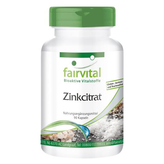 Zinkcitrat 50 mg - 90 Kapseln für Sie und Ihn