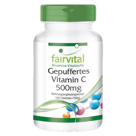 Vitamin C (gepuffert) 500 mg - 100 Tabletten für Sie und Ihn