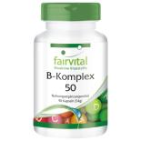 Vitamin B-Komplex 50 - 90 Kapseln für Sie und Ihn