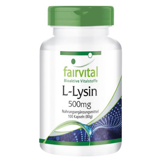 Lysin 500 mg - 100 Kapseln für Sie und Ihn