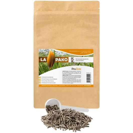 Lapako PRO ZINK für Alpakas/Lamas - Immunsystem und Vliesqualität 1,5 kg Eimer