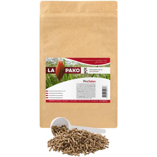 Lapako PRO SELEN für Alpakas/Lamas - Muskelstoffwechsel 1,5 kg Eimer
