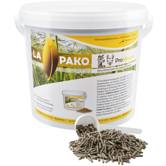 Lapako PRO MINERAL - Mineralfutter für Alpakas und Lamas