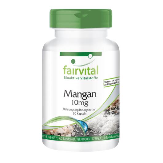 Mangan 10 mg - 90 Kapseln für Sie und Ihn
