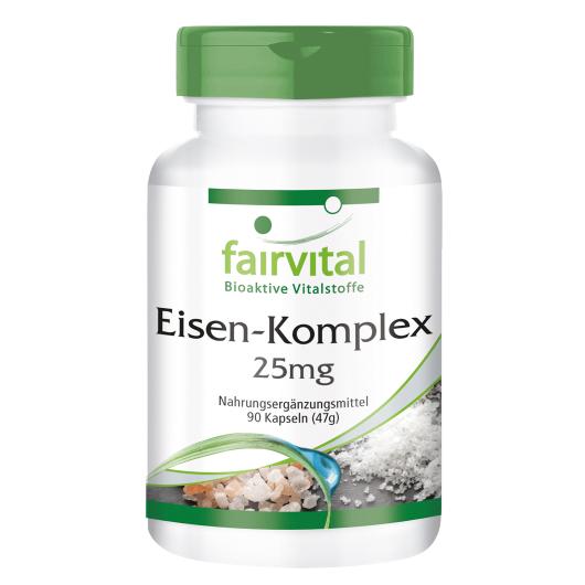 Eisen-Komplex 25 mg - 90 Kapseln für Sie und Ihn