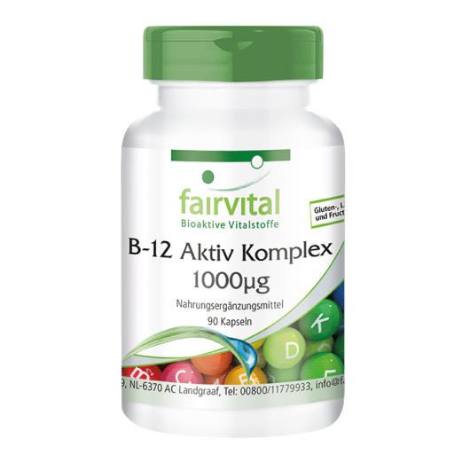 Vitamin B-12 Aktiv-Komplex 1000 µg - 90 Kapseln für Sie und Ihn