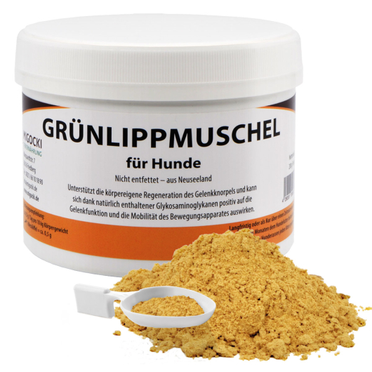 GRÜNLIPPMUSCHEL  für Hunde - Gesunderhaltung der Gelenke 200 g