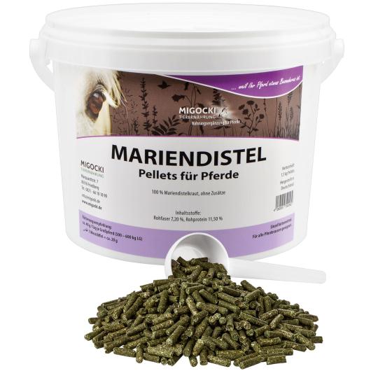 MARIENDISTEL für Pferde - Kräuter Leberstoffwechsel 1,5 kg Eimer