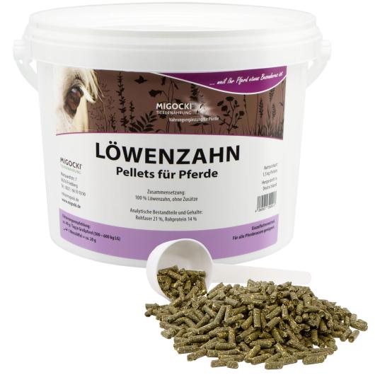LÖWENZAHN für Pferde - Kräuter Leberstoffwechsel 1,5 kg Eimer