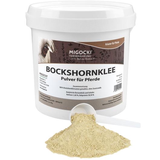 BOCKSHORNKLEE (gemahlen) für Pferde - Kräuter Verdauung
