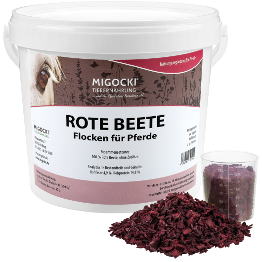 ROTE BEETE Flocken für Pferde - 2 kg